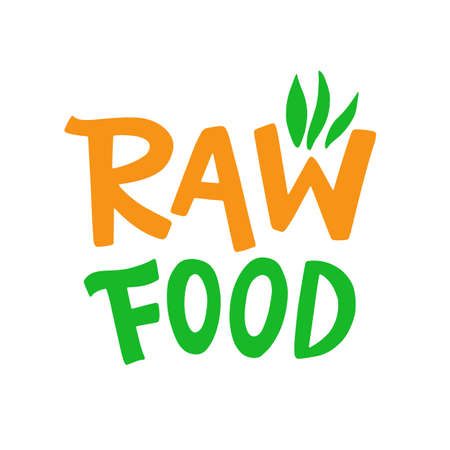 Raw food badge sign Иллюстрация