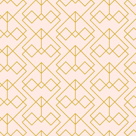 Vector minimal geometric seamless pattern, elegant ornament, mono line grid. Mid century modern abstract linear simple vector background. Modern fashion, wallpaper texture. Retro style, for packaging, Иллюстрация