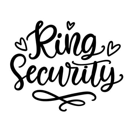 Ring Security wedding ceremony modern calligraphy