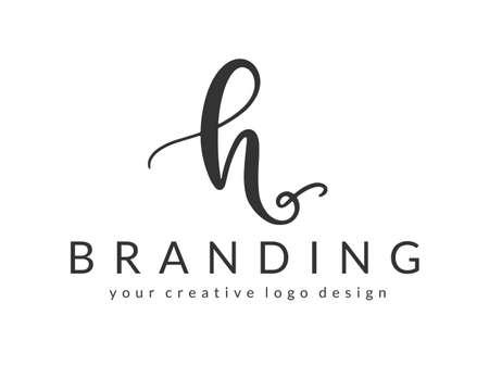 H Letter Design Template Ilustrace