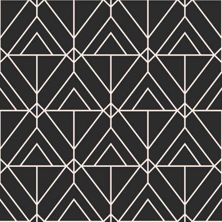 geometric seamless pattern, Mid century elegant minimal ornament Ilustrace