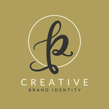 P Letter Design Template