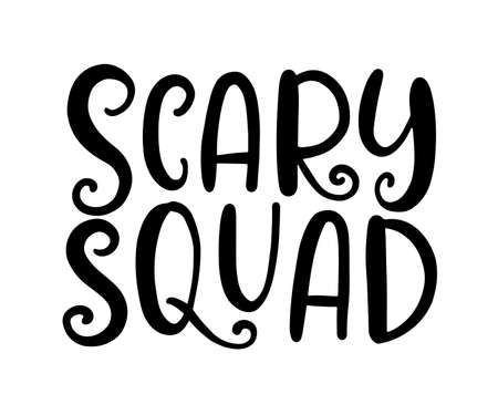 Scary Squad Halloween Party Poster with Handwritten Ink Lettering