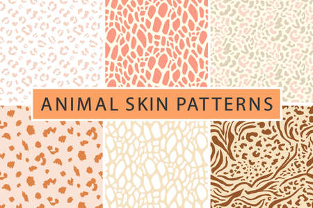 animal leopard skin texture print seamless pattern collection