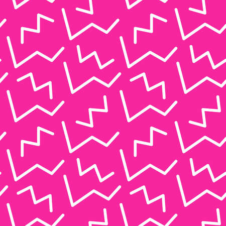 Memphis style seamless pattern, banner template. 80-90s trendy fashion background with geometric shapes. Vector illustration. Poster, invitation, greeting card, textile, cover design.