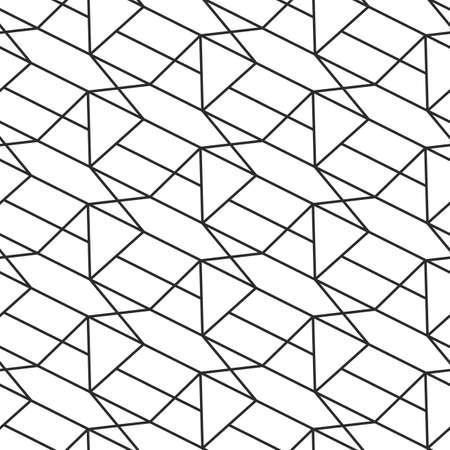 Retro geometric seamless pattern. Art deco elegant repeat texture background