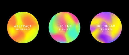 modern futuristic gradient cover round elements set Stock fotó - 131987326