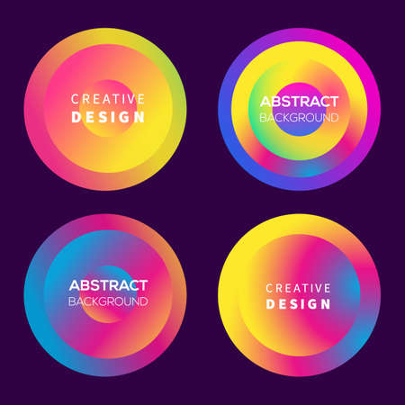 Vector modern futuristic gradient cover round elements set Stock fotó - 132541686
