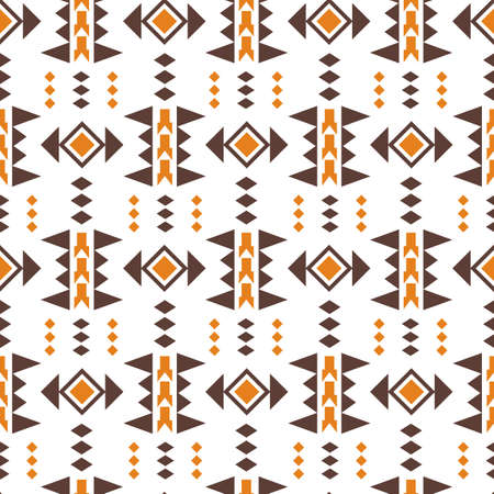 Tribal southwestern native american navajo seamless pattern. Ethnic fashion aztec ornament, abstract geometric handmade print for textile and surface design, package, wallpaper, wrapping paper Stock fotó - 132540054