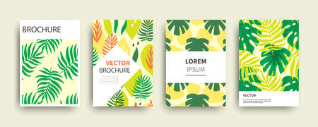 Tropic nature exotic covers templates set