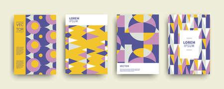 Modern abstract geometric covers templates set Stock fotó - 132541905