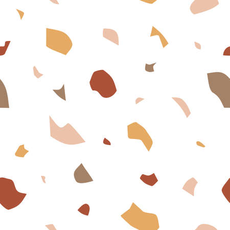 Terrazzo flooring seamless pattern