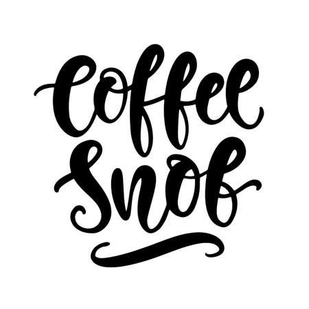 Coffee snob hand written lettering. Funny creative phrase