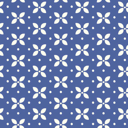 Vector Japanese, Chinese blue floral seamless pattern. Traditional ornament background for textile and surface design, package, wallpaper, web page backdrop, wrapping paper print. Stock fotó - 134551308