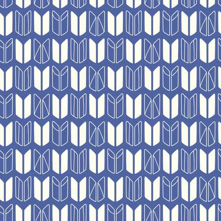 Japanese, Chinese traditional asian blue abstract seamless pattern