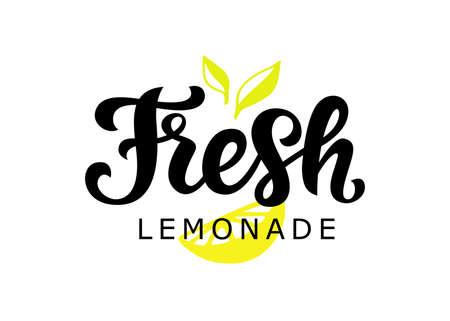 Fresh Lemonade vector badge, modern calligraphy Illusztráció