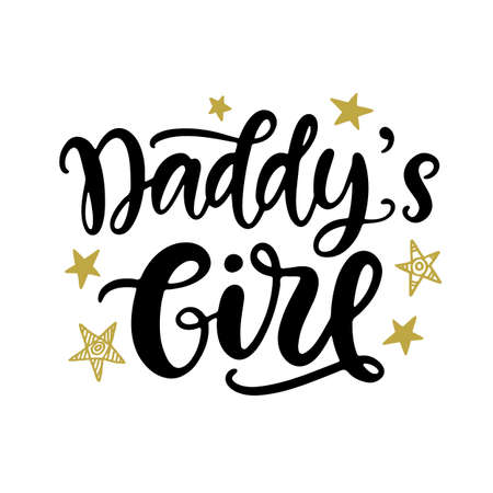Daddys Girl Hand lettering, baby clothes cute print