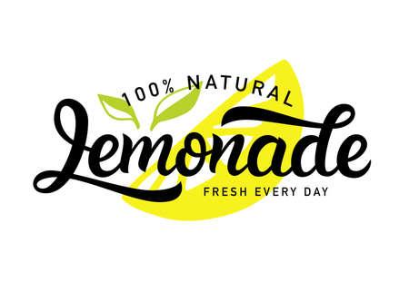 Lemonade vector  badge. Fresh drink calligraphy