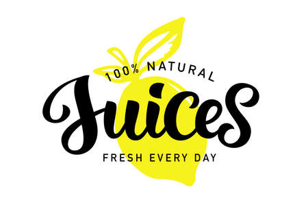 Natural Fresh Juices vector  badge
