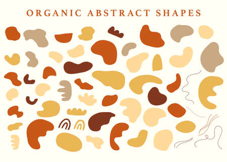 Abstraction organic shapes set