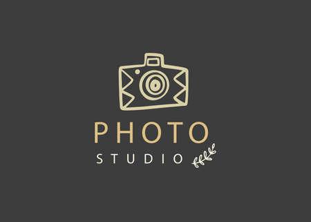 Photography vector badge, Photo Studio emblem Illusztráció
