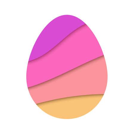 Easter egg paper cut design element template