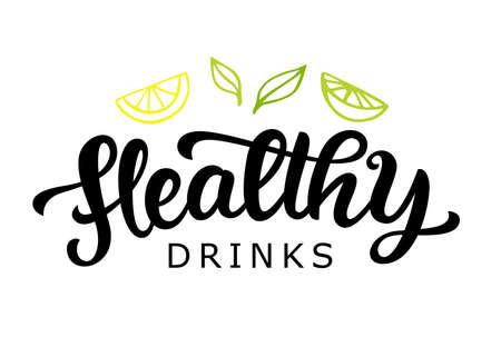 Healthy drinks vector badge Illusztráció