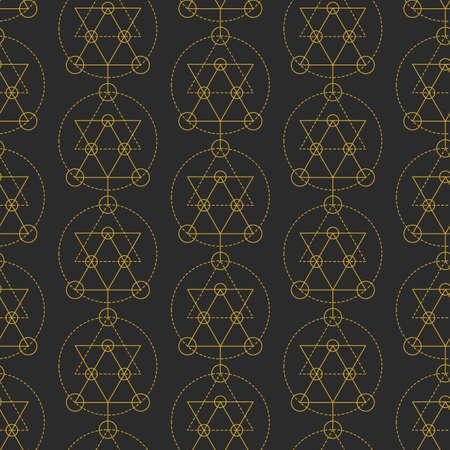 Vector sacred geometry seamless pattern Illusztráció