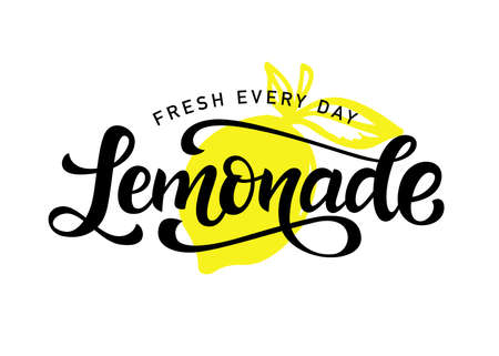 Lemonade vector badge, modern calligraphy