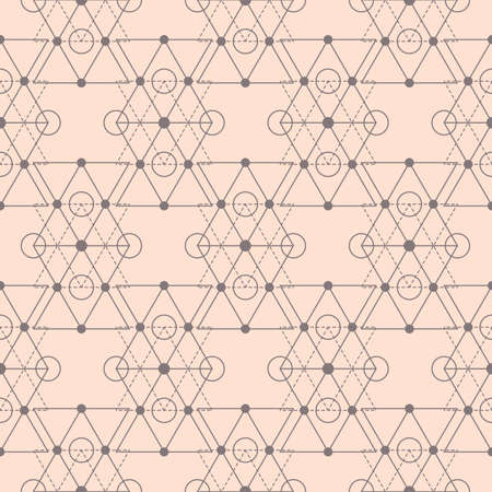 Vector sacred geometry shapes seamless pattern