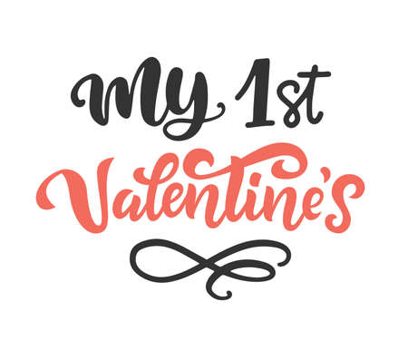 My first Valentines Day brush lettering