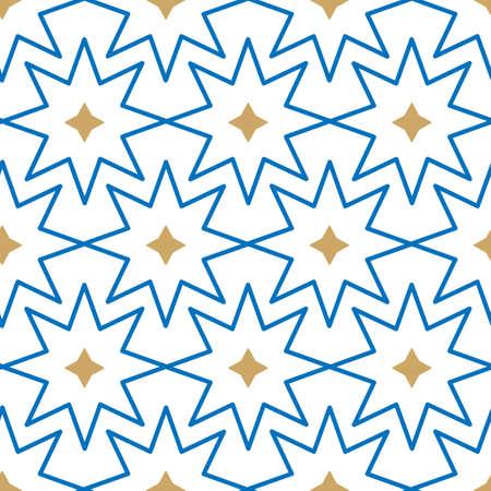 Vector geometric Islamic stars seamless pattern