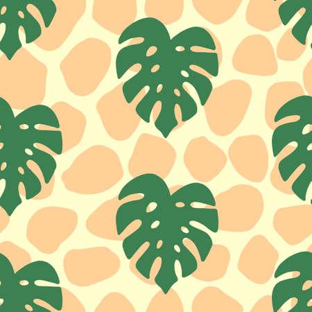Monstera tropical seamless pattern