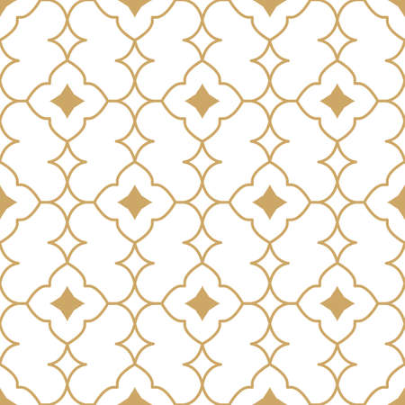 Vector gold geometric minimal seamless pattern Ilustracja