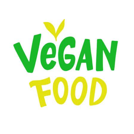 Vegan food vector logo sign