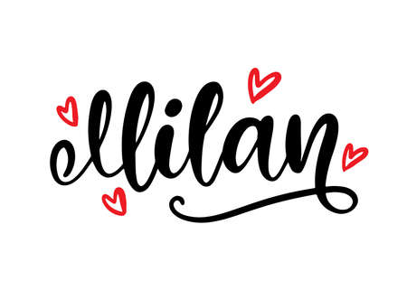 Milan Italy calligraphy. Modern city hand written brush lettering, isolated on white background. Tee shirt print, typography card, poster design. Vector illustration. Vintage retro style