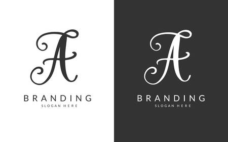A Letter Branding Design Template