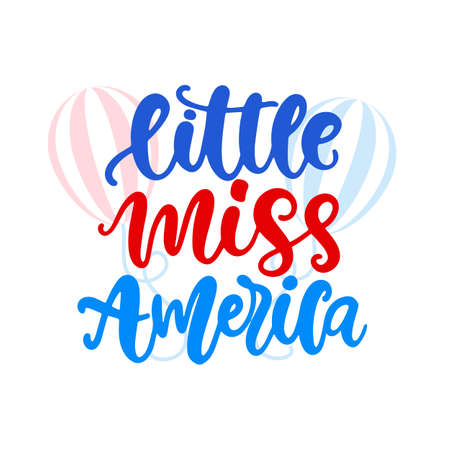 Little Miss America hand written ink lettering Ilustração