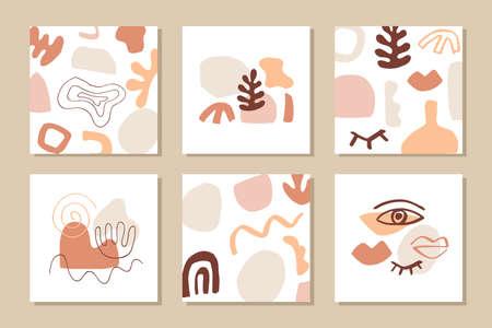Modern abstract cover templates set Ilustração