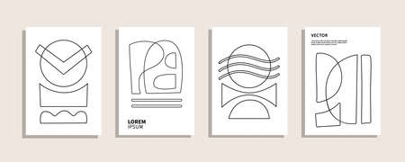 Modern geometric abstract covers templates set