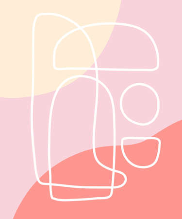 Vector minimal poster, cover background