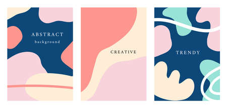 Vector minimal posters set, cover background