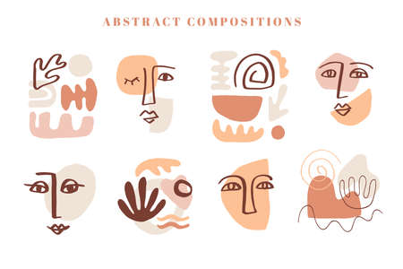 Modern abstract cover templates set Illustration
