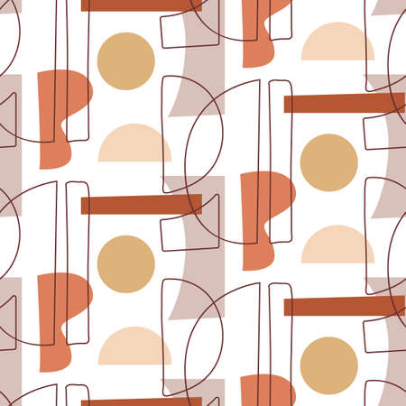 Abstract Geometric modern seamless pattern Illustration