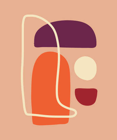 Vector minimal poster, cover background with abstract geometric contemporary collage