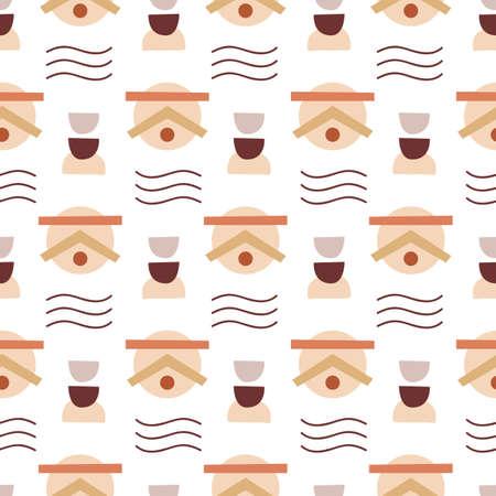Abstract Geometric modern seamless pattern Ilustrace