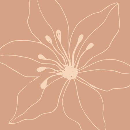 Minimalism card floral art design