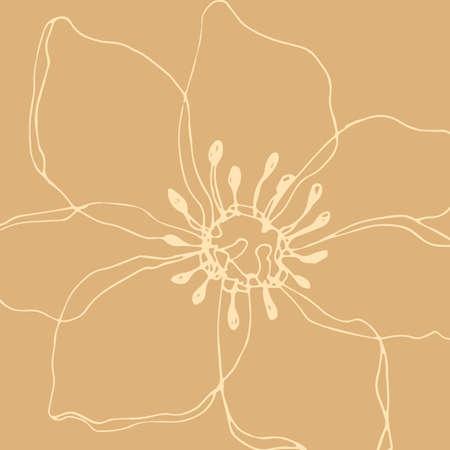 Minimalism card floral art design. Delicate vintage poster 일러스트