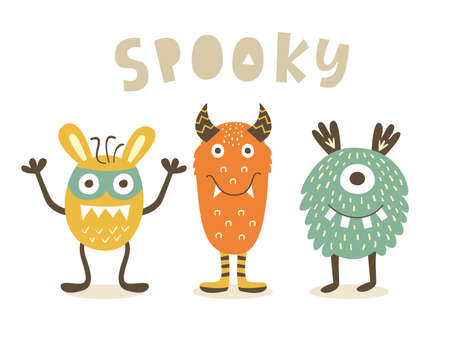 Spooky Cute Monster characters