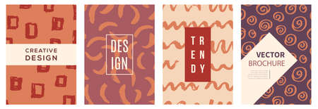 Vector covers set, background texture with grunge ink brush strokes and splashes